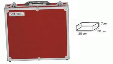 Scaleauto Slot Box 300x300x70mm Aluminium Red Series