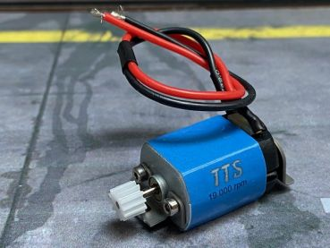 BRS417 1:24 Motor BRM Blue (19000U@12V) Universal-Can f.Slotcars m.Ø2mm Antriebswelle
