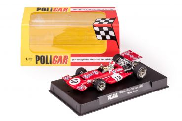 PCCAR04A POLICAR 1:32 analog Slotcar March 701 Spa 1970 No. 10 Chris Amon