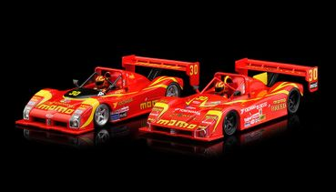 RS0088 RevoSlot 1:32 Slotcar analog 333SP Twin-Pack Special Edition Box mit 2 Autos Team MOMO und MOKART