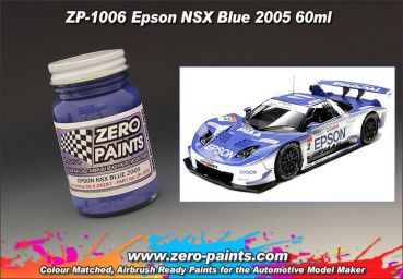 ZEROPAINTS ZP-1006 Epson NSX Blue 2005 Paint 60ml