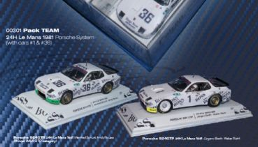 FALCON Team Pack Porsche 924 GTP Le Mans 1981 No. 1 & Le Mans 1981 No. 36 Special Edition Twin Car Set, FA02004