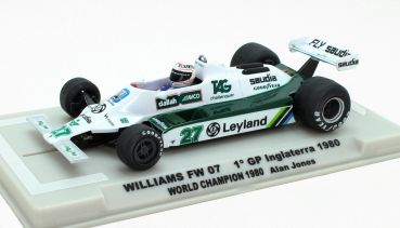 FLY SLOT 1:32 analog Fahrzeug Williams FW07B F1 Grand Prix Inglaterra 1980 #27, FY055107