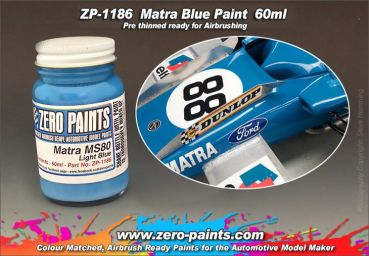 ZEROPAINTS ZP-1186 Matra MS80 Light Blue Paint 60ml
