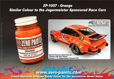 ZEROPAINTS ZP-1057 Jägermeister Orange Paint, 60ml