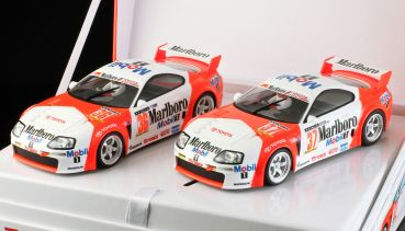 RevoSlot RS0038 1:32 Slotcar Twin-Pack Team Supra Special Limited Edition Box mit 2 Autos, Marlboro #36 und #37