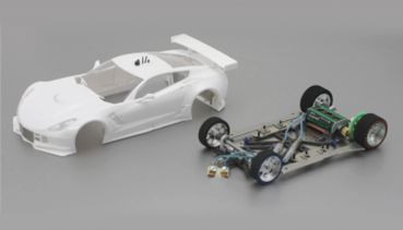 SC7100RC2 Scaleauto, 1:24 Bausatz analog Racing-RC2 Competition A7R GT3 White Kit