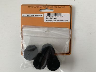 SG8832.SG2542BM Sigma Reifen Ø25x20mm IØ14mm Black Magic Moosgummi Slicks