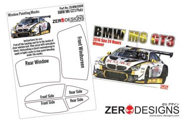 ZEROPAINTS ZD-WM-0009 BMW M6 GT3 Window Painting Masks (NuNu 1:24)