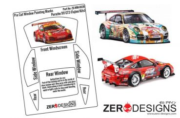 ZEROPAINTS ZD-WM-0028 Porsche 911 GT3 Pre Cut Window Painting Masks (Fujimi 1:24)