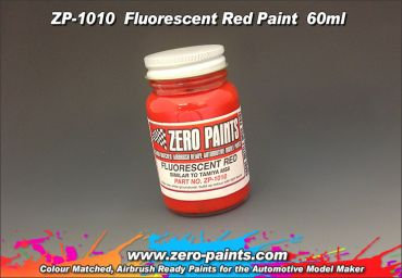 ZEROPAINTS ZP-1010 Fluorescent Red Paint 60ml