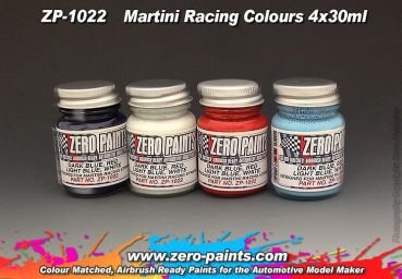 ZEROPAINTS ZP-1022 Racing Colour Paint Set ähnlich Martini 4x30ml