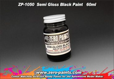 ZEROPAINTS ZP-1050 Semi Gloss Black Paint 60ml