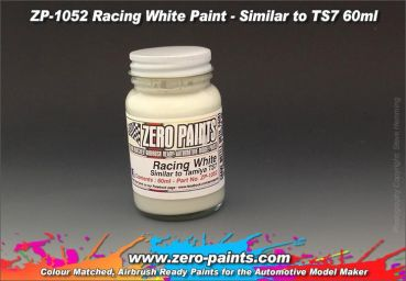 ZEROPAINTS ZP-1052 Racing White Paint - Light Cream (Vergleichbar mit Tamiya Farbton TS7) 60ml