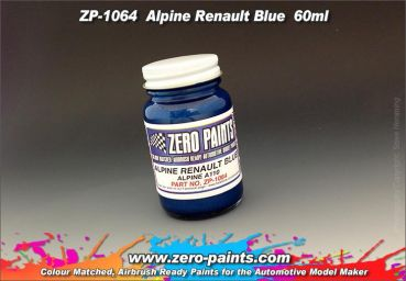 ZEROPAINTS ZP-1064 Alpine Renault Blue Paint A110 60ml