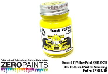 ZEROPAINTS ZP-1085/30 Renault F1 Yellow Paint RS01-RE20 30ml