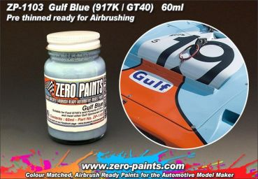 ZEROPAINTS ZP-1103 Gulf Blue Paint for 917's and GT40's etc 60ml