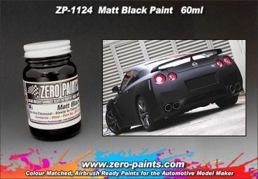 ZEROPAINTS ZP-1124 Matt Black (Schwarz) Paint 60ml