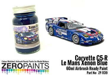 ZEROPAINTS ZP-1139 Corvette C5-R Le Mans Xenon Blue Paint 2003 - 60ml