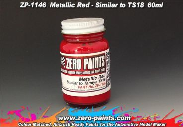 ZEROPAINTS ZP-1146 Metallic Red Paint (Similar to TS18) 60ml