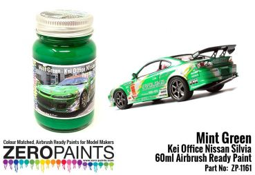 ZEROPAINTS ZP-1161 Green Paint for KEI Office S15 Silvia 60ml