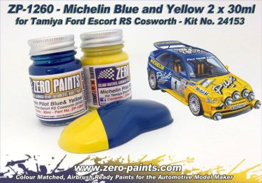 ZEROPAINTS ZP-1260 Michelin Pilot Blue & Yellow Paint Set 2x30ml