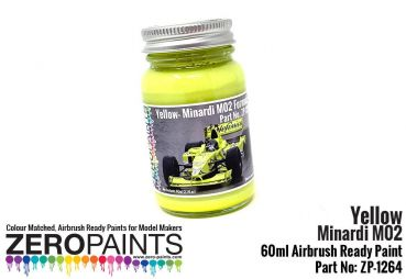 ZEROPAINTS ZP-1264 Minardi M02 Yellow Paint 60ml