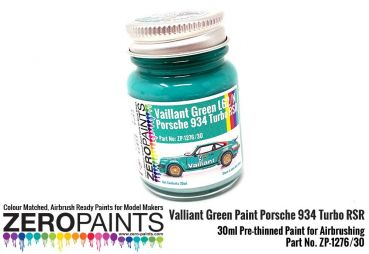 ZEROPAINTS ZP-1276 Valliant Green Paint Porsche 934 Turbo RSR 60ml