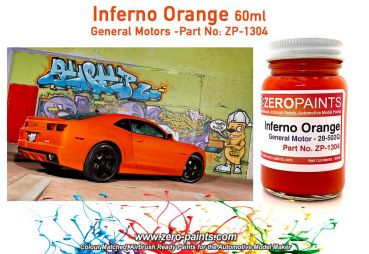 ZEROPAINTS ZP-1304 Inferno Orange (General Motors) Paint 60ml