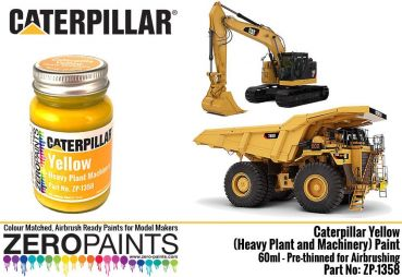 ZEROPAINTS ZP-1358 Caterpillar Yellow (Heavy Plant and Machinery) Paint 60ml