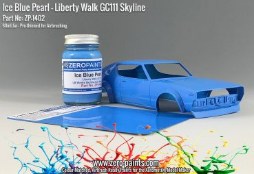 ZEROPAINTS ZP-1402 Ice Blue Pearl Paint for Liberty Walk GC111 Skyline (Ken Mary) 60ml