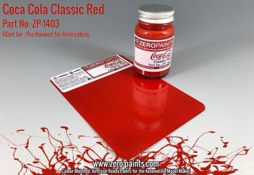 ZEROPAINTS ZP-1403 Coca Cola Classic Red Paint 60ml