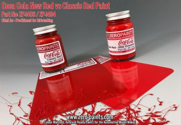 ZEROPAINTS ZP-1404 Coca Cola New Red Paint 2000 onwards (Neues Coca Cola Rot ab 2000) 60ml