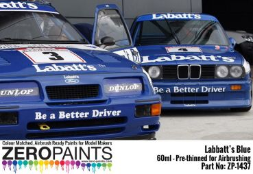 ZEROPAINTS ZP-1437 Labatt's Blue Paint 60ml (BMW M3, Ford Sierra RS500 Cosworth)
