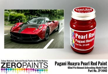 ZEROPAINTS ZP-1440 Pagani Huayra Pearl Red Paint 60ml