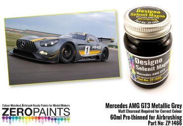 ZEROPAINTS ZP-1466 Mercedes AMG GT3 Metallic Grey (Grau) Matt Paint 60ml