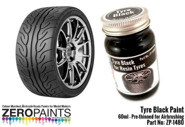 ZEROPAINTS ZP-1480 Tyre Black Paint 60ml