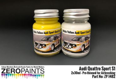 ZEROPAINTS ZP-1482 Audi Quattro Sport S1 Paint Set 2x30ml