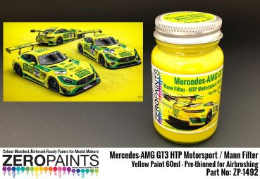ZEROPAINTS ZP-1492 Mercedes-AMG GT3 HTP Motorsport / Mann Filter Yellow Paint 60ml
