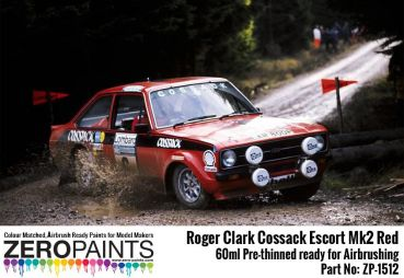 ZEROPAINTS ZP-1512 Roger Clark Cossack Escort Mk2 Red Paint 60ml