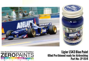 ZEROPAINTS ZP-1514 Ligier LS43 Blue Paint 60ml