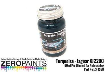 ZEROPAINTS ZP-1538 Jaguar XJ220C Turquoise Paint 60ml