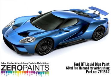 ZEROPAINTS ZP-1542 Ford GT Liquid Blue Paint 60ml