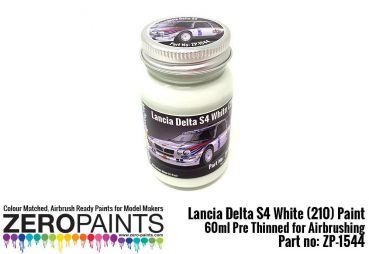ZEROPAINTS ZP-1544 Lancia Delta S4 Rally 1986 Monte Carlo Rally White Paint 60ml