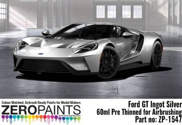 ZEROPAINTS ZP-1547 Ford GT Ingot Silver Paint 60ml