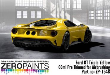 ZEROPAINTS ZP-1548 Ford GT Triple Yellow Paint 60ml