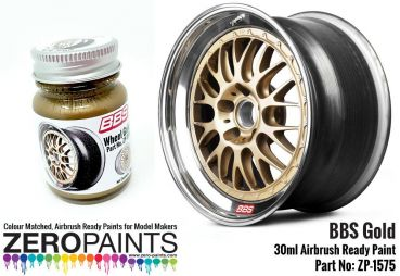 ZEROPAINTS ZP-1575 BBS Wheel Gold Paint 30ml