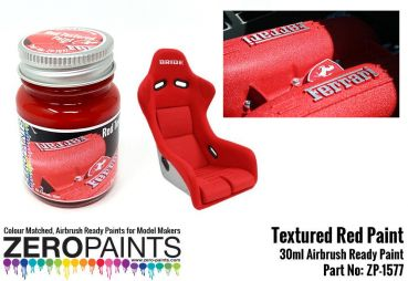 ZEROPAINTS ZP-1577 Rote Strukturlackierung (Red Textured Paint) 30ml