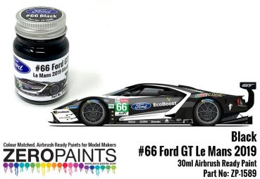 ZEROPAINTS ZP-1589 Ford GT Le Mans #66 Black Paint 30ml