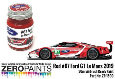 ZEROPAINTS ZP-1590 Ford GT Le Mans #67 Red Paint 30ml